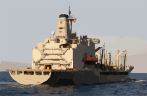 The Fleet Oiler Usns John Lenthall (t-ao 189) Steams Through The Mediterranean Sea After Conducting An Underway Replenishment With The Guided Missile Cruiser Uss San Jacinto (cg-56) Clip Art