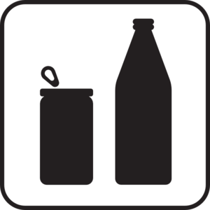 Recycle Shadow Bottle  And Can Clip Art