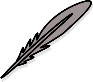 Silver Feather Clip Art