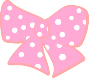 Bow With Polka Dots Clip Art at Clker.com - vector clip art online ...