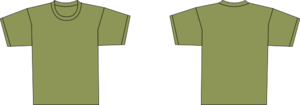Army Green Shirt Clip Art