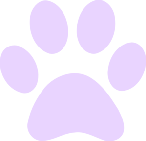 Paws Purps2 Clip Art