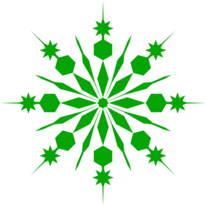 Shower Green Snowflake Clip Art