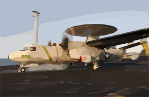 An E-2c Hawkeye Launches From The Flight Deck Aboard Uss Kitty Hawk (cv 63). Clip Art
