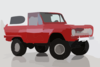 Red Bronco Clip Art