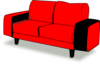 Red Couch Clip Art