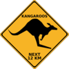 Crossing Kangaroo Sign Clip Art