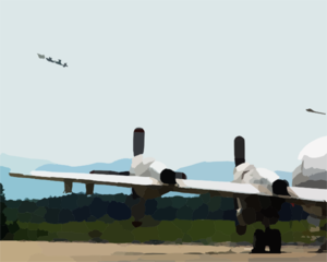 P-3c  Orion  On Final Approach Clip Art