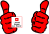 Red Thumbs Clip Art