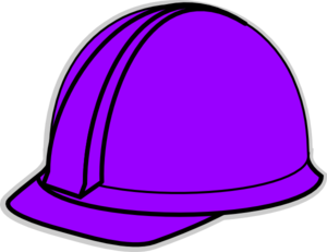 Purple Hard Hat Clip Art