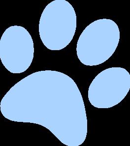 Blue Paw Print Clip Art At Clker Com Vector Clip Art