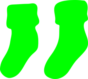 Green Socks Clip Art