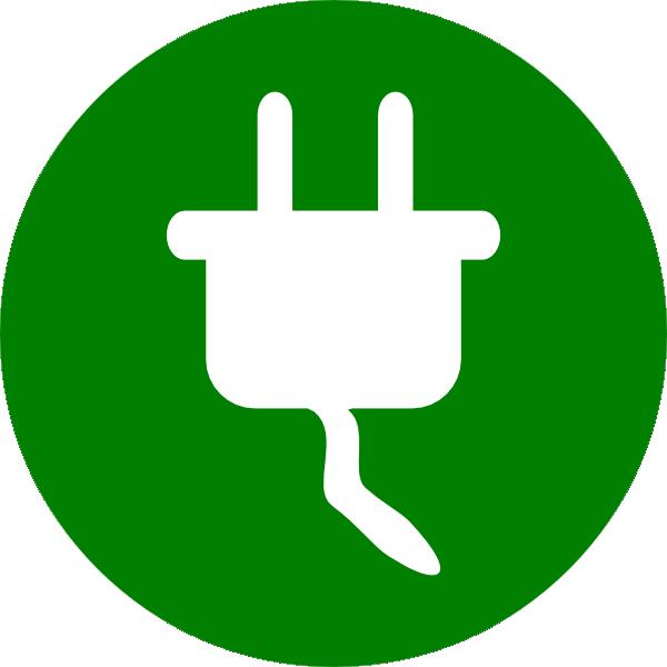 green electricity symbol clip art at clkercom vector