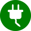 Green Electricity Symbol Clip Art
