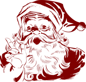 Dark Red Santa Clip Art