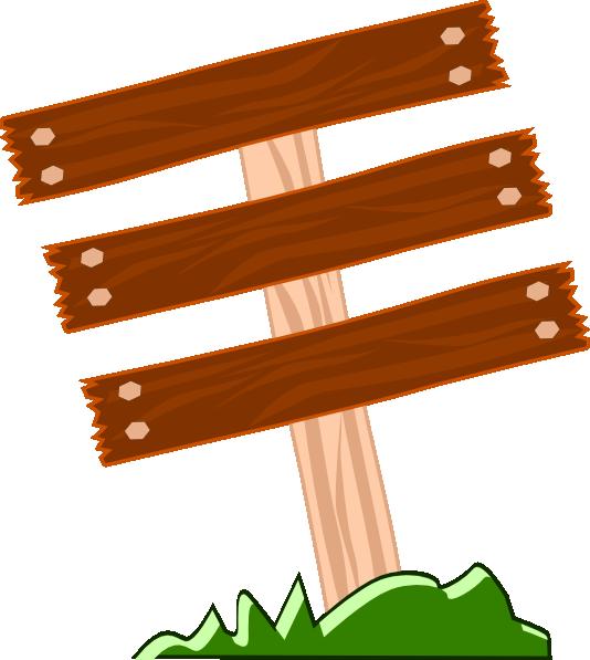 Wood sign clip art at clker vector online
