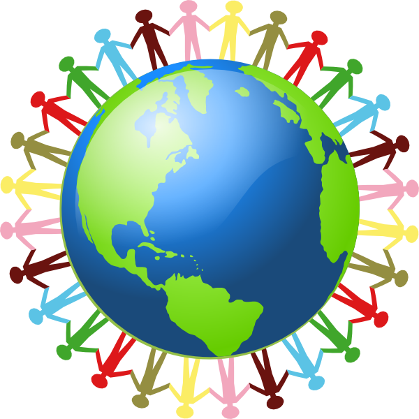 People Holding Hands Around The World Clip Art at Clker