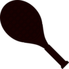 Slanted Racket Clip Art