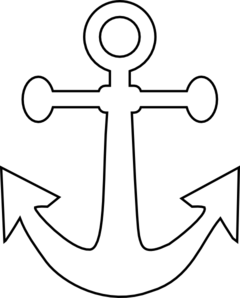 White Anchor Clip Art