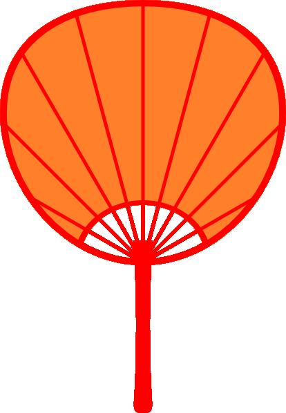 Orange Japanese Fan Clip Art at Clker.com - vector clip ...