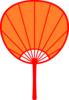 Orange Japanese Fan Clip Art