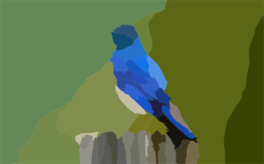 Mountain Blue Bird X Clip Art