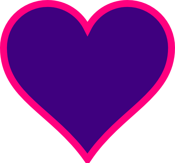 Purple and pink heart clip art at clker vector clip art download this image as junglespirit Images