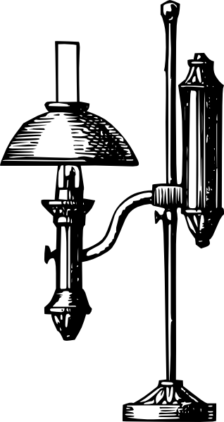 antique desk electric lamp clip art at clker com