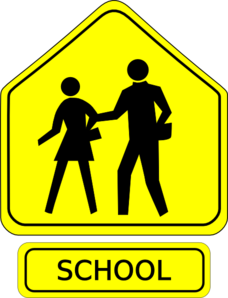 Scool Crossing Sign Clip Art