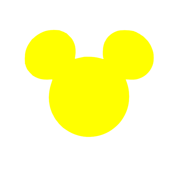 Image result for yellow mickey mouse head clipart