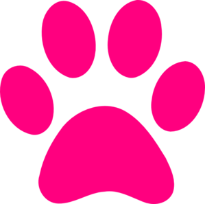 Pink Dog Print Clip Art at Clker.com - vector clip art online, royalty ...