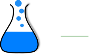 Chem Flask Blue Clip Art