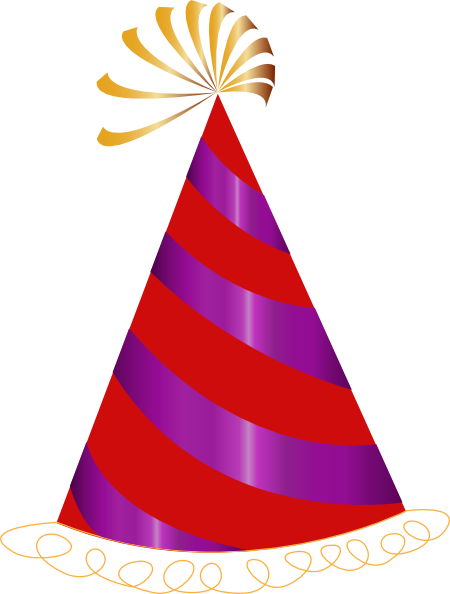 red and purple party hat clip art at clker com vector clip art rh clker com party hat clipart etsy party hat clip art black and white