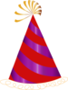 Red And Purple Party Hat Clip Art