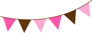 Pink Brown Bunting Clip Art