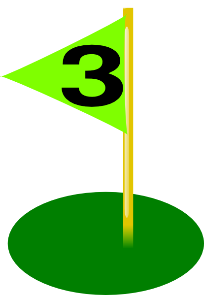 Golf Flag 3rd Hole Bolder Number Clip Art at Clker.com ... Golf Hole Clip Art