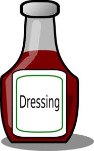 Dressing Bottle Clip Art