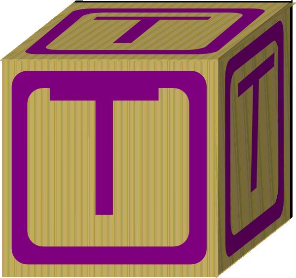 Letter Alphabet Block T Clip Art at Clker.com - vector ...