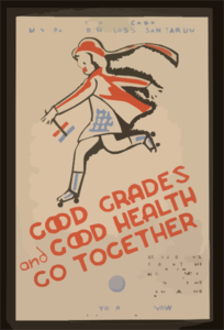 Good Grades And Good Health Go Together City Of Chicago Municipal Tuberculosis Sanitarium :pget Your Test Now. Clip Art