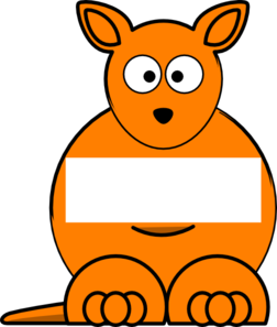 Orange Sightword Kangaroo Clip Art
