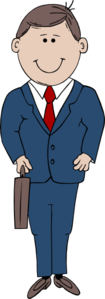 Man In Suit Clip Art