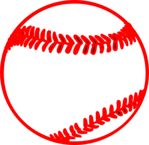 Red Thick Baseball Clip Art