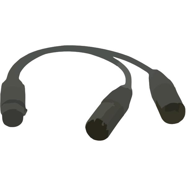 Cable Clip Art : Splitter cable clip art at clker vector