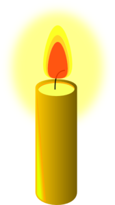 Glowing Beeswax Candle Clip Art