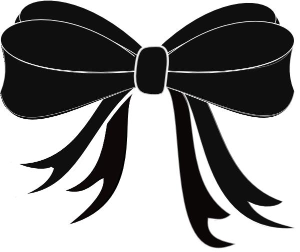 Black Bow Ribbon Clip Art at Clker.com - vector clip art ...
