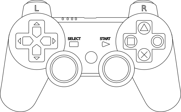 controller outline clip art at clker com