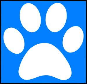 White Paw Print clip art - vector clip art online, royalty free ...