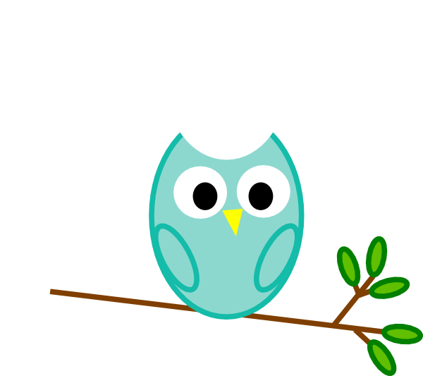 mint owl clip art at clker com vector clip art online royalty rh clker com
