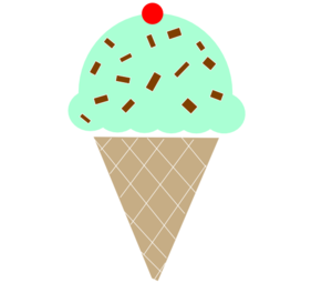 Mint Icecream W/cherry Clip Art