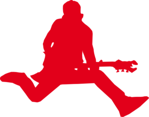 Rock Star With Guitar Clip Art
